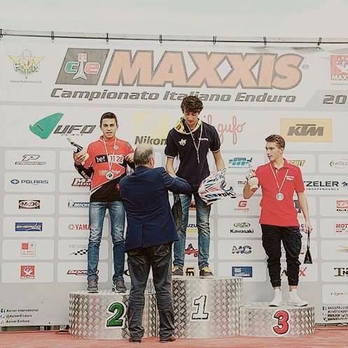 Claudio Spanu sul podio - Sant'Angelo in Vado, 27 settembre 2015