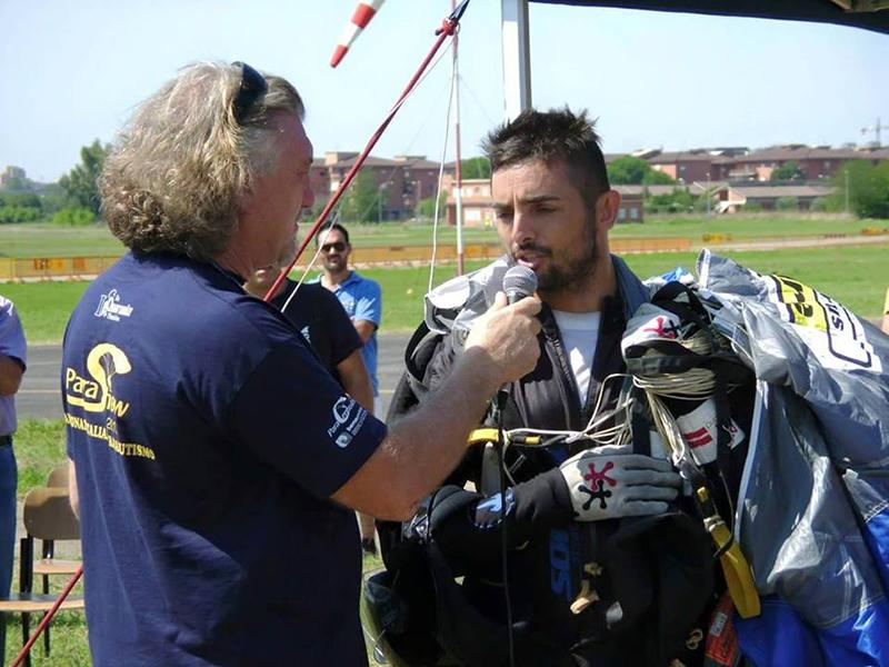 Aeroporto Guidonia, 30 agosto 2015 - Campionato Italiano di Paracadutismo - Nella foto: Giuseppe Cossu