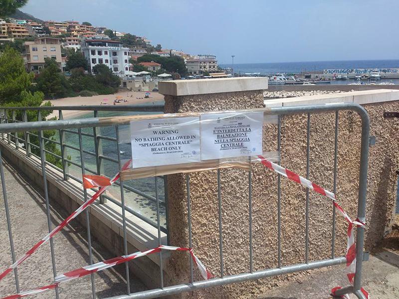 Spiaggia Centrale, 23 luglio 2016 - Foto tratta da facebook di: Alessandra Mazzella