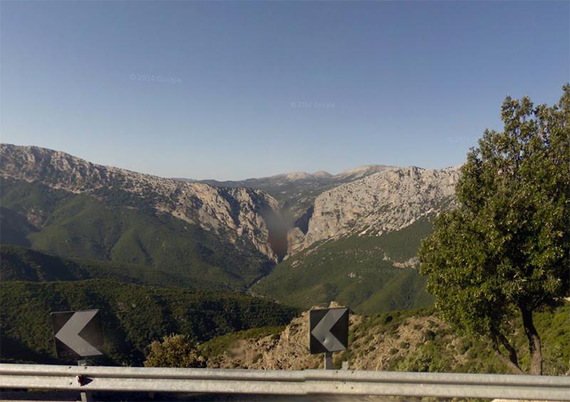 Canyon Gorroppu da Strada Orientale Sarda - Immagine tratta da Street View