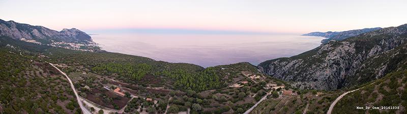 Panoramica Golfo di Orosei da Nuraghe Mannu, 01/11/16 - Foto: Elias Sedda
