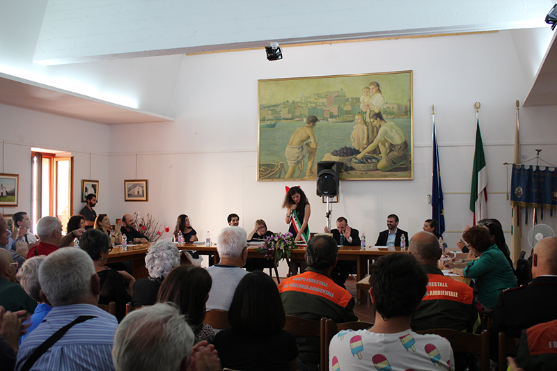Sala Consiliare Dorgali, 16 giugno 2016 - Primo Consiglio Comunale Giunta Itria Fancello
